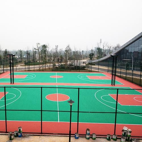 瀘州生態體育公園彈性丙烯酸球場