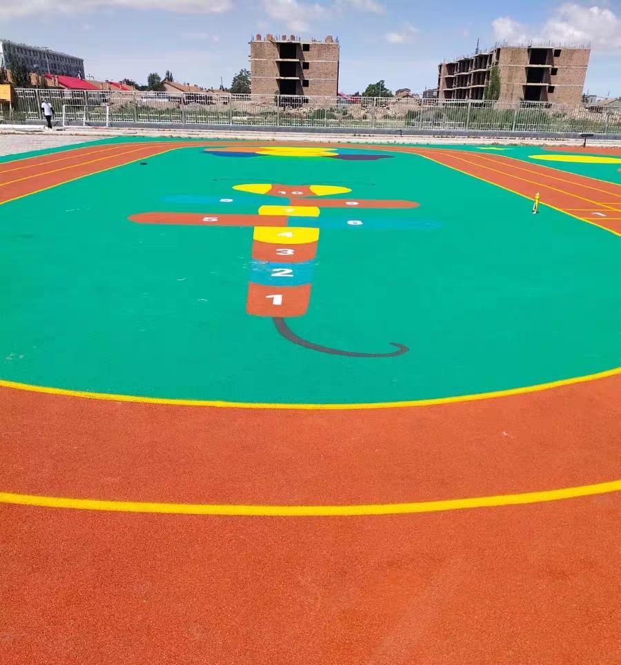 重慶EPDM塑膠籃球場